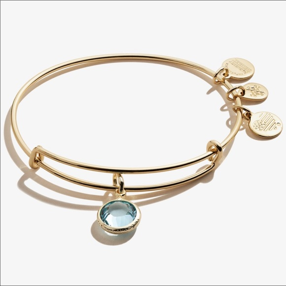 Alex and Ani Aquamarine (March) Swarovski Bracelet